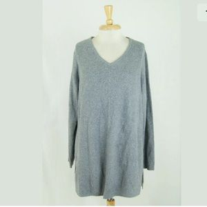 J.Jill Textured Essential Cotton Tunic Sweater L